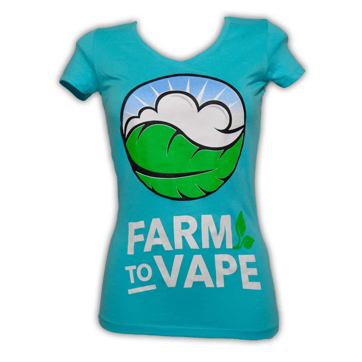 Farm To Vape Womens Blue 5 Color T Shirt